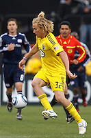 8 MAY 2010:  Steven Lenhart of the Columbus Crew (32)  during MLS soccer game between New England Revolution vs Columbus Crew at Crew Stadium in Columbus, Ohio on May 8, 2010. The Columbus defeated New England 3-2.