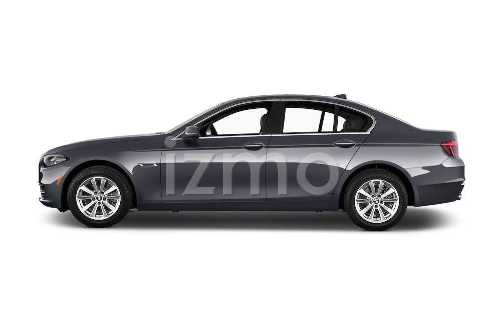 Car Driver side profile view of a 2015 BMW 5 Series 528i 4 Door Sedan Side View