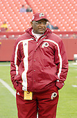 Washington Redskins offensive coordinator Jimmy Raye looks over the field prior to the game against the Arizona Cardinals at FedEx Field in Landover, Maryland on January 6, 2002. The Redskins won the game 20 - 17.<br /> Credit: Ron Sachs / CNP