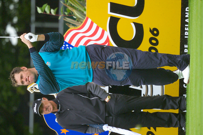 20th September, 2006. European Ryder Cup team member Lee Westwood practices on teh 12th tee on Practice Day 2 of the Palmer Course at the K Club..Photo: Eoin Clarke/ Newsfile.
