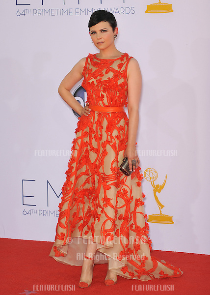 Ginnifer Goodwin at the 64th Primetime Emmy Awards at the Nokia Theatre LA Live..September 23, 2012  Los Angeles, CA.Picture: Paul Smith / Featureflash