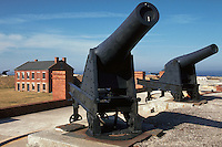 Fort Clinch State Park, former Union Army fort, with cannons. Fernandina Beach, Florida.