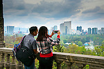 Mexico, Mexico City, Chapultepec Castle, Couple Enjoying The View<br />