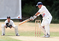 Andy Symes of Ardleigh Green in batting action - Hornchurch CC 3rd XI vs Ardleigh Green CC 3rd XI, Essex Club Cricket at Fielders Sports Ground, Hornchurch - 03/07/10 - MANDATORY CREDIT: Rob Newell/TGSPHOTO - Self billing applies where appropriate - 0845 094 6026 - contact@tgsphoto.co.uk - NO UNPAID USE.