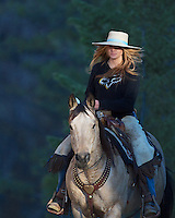 Cowgirl, Cyndie Clark in Star Valley, Wyoming