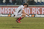 10.02.2018, HDI Arena, Hannover, GER, 1.FBL, Hannover 96 vs SC Freiburg<br /> <br /> im Bild<br /> &Ccedil;ağlar S&ouml;y&uuml;nc&uuml; / Caglar Soeyuencue (SC Freiburg #04) niedergeschlagen / entt&auml;uscht nach Spielende, <br /> <br /> Foto &copy; nordphoto / Ewert
