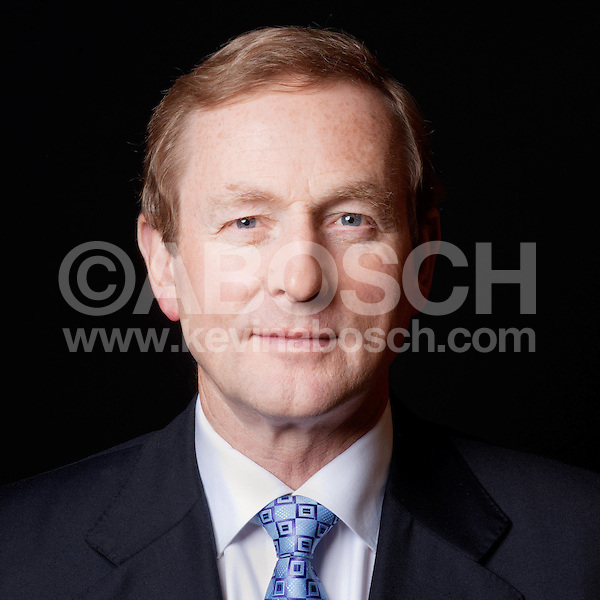 Portrait of Irish Prime Minister Enda Kenny photographed by Kevin Abosch
