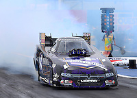 Feb 20, 2015; Chandler, AZ, USA; NHRA funny car driver Jack Beckman during qualifying for the Carquest Nationals at Wild Horse Pass Motorsports Park. Mandatory Credit: Mark J. Rebilas-