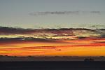 Ships sharing a sunset near St. Thomas