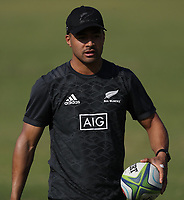 PRETORIA, SOUTH AFRICA - OCTOBER 05: Richie Mo'unga during the Rugby Championship New Zealand All Blacks captain's run at St David's Marist Inanda in Sandown, South Africa on Friday, October 5, 2018. Photo: Steve Haag / stevehaagsports.com