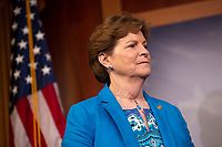 United States Senator Jeanne Shaheen (Democrat of New Hampshire) at a press conference calling to save pre-existing condition protections in the health care system during on Capitol Hill in Washington D.C., U.S. on July 31, 2019.<br /> <br /> Credit: Stefani Reynolds / CNP/AdMedia