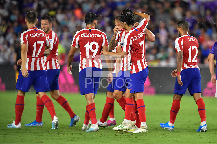 Orlando, FL - Wednesday July 31, 2019:  João Félix #7, Goal Celebration during the Major League Soccer (MLS) All-Star match between the MLS All-Stars and Atletico Madrid at Exploria Stadium.