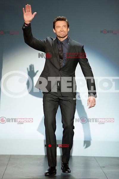 Australian actor Hugh Jackman receives the Donostia Award during the 61st San Sebastian Film Festival in the Northern Spanish Basque city of San Sebastian on September 27, 2013. (ALTERPHOTOS/Victor Blanco) /NortePhoto