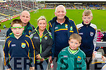 Darragh Mulvihill, Kieran Mulvihill, Lisa Leahy, John Roche, Daniel Leahy and Lorcan Leahy (all from Listowel) enjoying the atmosphere at the Kerry v Cork Munster Final held in Fitzgerald Stadium, Killarney on Saturday evening last.