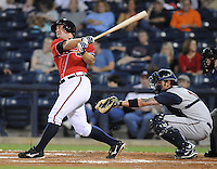 11 April 2008: Infielder Van Pope (8) of the Mississippi Braves, Class AA affiliate of the Atlanta Braves, in a game against the Mobile BayBears at Trustmark Park in Pearl, Miss. Photo by:  Tom Priddy/Four Seam Images