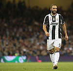 Juventus' Gonzalo Higuain in action during the Champions League Final match at the Principality Stadium, Cardiff. Picture date: June 3rd, 2017. Pic credit should read: David Klein/Sportimage