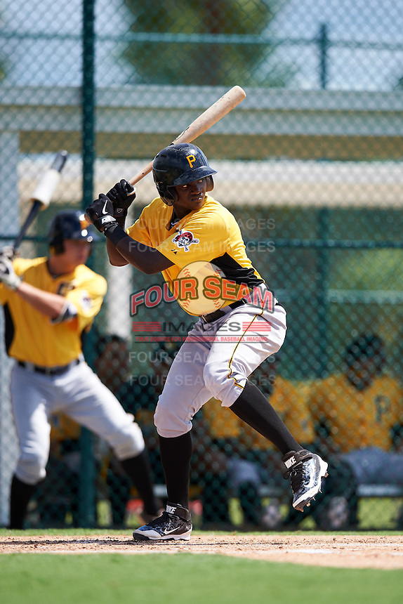 Pittsburgh Pirates Cristopher Perez (99) during an Instructional League Intrasquad Black & Gold game on September 28, 2016 at Pirate City in Bradenton, Florida.  (Mike Janes/Four Seam Images)
