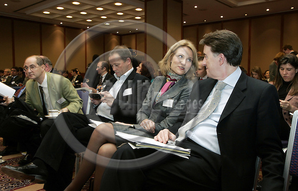 BRUSSELS - BELGIUM - 04 DECEMBER 2006 -- Debate on the future of the European Social Model, organized by EPC (European Policy Centre) and Policy Network. -- Peter MANDELSON (Ri front), EU-Commissioner for Trade who chaired the debate and MEP Helle THORNING-SCHMIDT, Leader of the Group of the Party of European Socialists and Broad Member of Policy Network with other audience. -- PHOTO: JUHA ROININEN / EUP-IMAGES