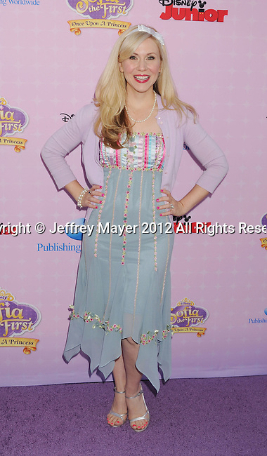 "BURBANK, CA - NOVEMBER 10: Ashley Eckstein arrives at the Disney Channel's Premiere Party For ""Sofia The First: Once Upon A Princess"" at the Walt Disney Studios on November 10, 2012 in Burbank, California."