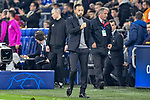 06.11.2018, Veltins-Arena, Gelsenkirchen, GER, CL, FC Schalke 04 vs Galatasaray Istanbul, DFL regulations prohibit any use of photographs as image sequences and/or quasi-video <br /> <br /> im Bild Domenico Tedesco (FC Schalke 04) Schlussjubel / Schlu&szlig;jubel / Emotion / Freude / <br /> <br /> Foto &copy; nordphoto/Mauelshagen
