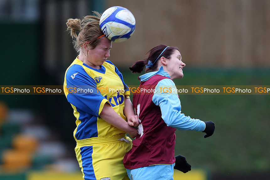 Becky Merritt in action for West Ham - West Ham United Ladies vs Gillingham Ladies - FA Women's Premier League Southern Division Football at Ship Lane, Thurrock FC - 13/02/11 - MANDATORY CREDIT: Gavin Ellis/TGSPHOTO - Self billing applies where appropriate - Tel: 0845 094 6026
