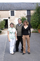 Henry Natter, owner. His wife and daughter Mathilde. Domaine Henry Natter, Montigny, Sancerre, Loire, France