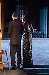 """Antioch High School hosted """"United We Fulfill The Dream"""" celebration for Martin Luther King day on Monday, January 19, 2015 in Antioch, California.  Master 7 Mistress of Ceremony, Caleb Harper and Claryssa Wilson stand offstage before opening the celebration.  Photo/Victoria Sheridan"""