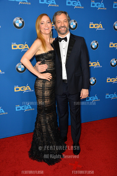 Leslie Mann &amp; Judd Apatow at the 70th Annual Directors Guild Awards at the Beverly Hilton Hotel, Beverly Hills, USA 03 Feb. 2018<br /> Picture: Paul Smith/Featureflash/SilverHub 0208 004 5359 sales@silverhubmedia.com