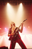 Judas Priest - guitarist Glenn Tipton performing live the Metal Conqueror Tour at the Jaap Edenhall in Amsterdam Netherlands - 27 Jan 1984.  Photo credit: IconicPix