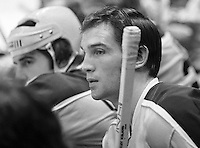 Seals hockey...Hilliard Graves waits to hit the ice..(photo/Ron Riesterer)