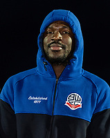Bolton Wanderers' Aristote Nsiala pictured before the match<br /> <br /> Photographer Andrew Kearns/CameraSport<br /> <br /> The Premier League - Leicester City v Aston Villa - Monday 9th March 2020 - King Power Stadium - Leicester<br /> <br /> World Copyright © 2020 CameraSport. All rights reserved. 43 Linden Ave. Countesthorpe. Leicester. England. LE8 5PG - Tel: +44 (0) 116 277 4147 - admin@camerasport.com - www.camerasport.com