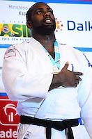 RIO DE JANEIRO, RJ,31 DE AGOSTO DE 2013 -CAMPEONATO MUNDIAL DE JUDÔ RIO 2013- O francês Teddy Rinner conquistou a medalha de ouro na categoria +100kg no Mundial de Judô Rio 2013, no Maracanazinho de 26 de agosto a 01 de setembro, zona norte do Rio de Janeiro.FOTO:MARCELO FONSECA/BRAZIL PHOTO PRESS