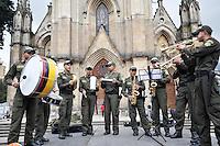 BOGOTA-COLOMBIA-08-09-2013: Banda musical de Policías Bachilleres. Musical band of Police Graduates. (Foto: VizzorImage / Luis Ramírez / Staff)....