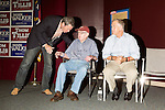September 20, 2014. Greensboro, North Carolina.<br />  (left to right) mark Walker, Howard Coble, who currently holds the seat Walker is running for, and Thom Tillis.<br />  Thom Tillis and Mark Walker hosted a rally at the Guilford County Republican Party headquarters for their supporters in the upcoming November election. Tillis, the current Speaker of the House for the NC House of Representatives, is running to take Democrat Kay Hagan's US Senate seat, while Walker, a local pastor, is running for the NC 6th District' s US Congressional seat.