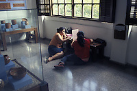 Honduran students doing research in the Museum of Anthropology and History, San Pedro Sula, Honduras