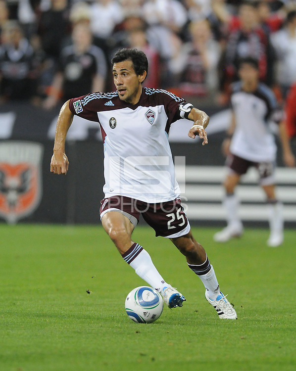 Colorado Rapids midfielder Pablo Mastroeni (25)   DC United tied The Colorado Rapids 1-1, at RFK Stadium, Saturday  May 14, 2011.