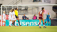 Jacksonville, FL - Thursday, April 05, 2018: Hisense field board, Bianca Henninger during a friendly match between USA and Mexico at EverBank Stadium.  USA defeated Mexico 4-1.