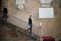 Il Sindaco Ignazio Marino lascia il Campidoglio.<br /> Mayor of Rome, Ignazio Marino leaves the Campidoglio