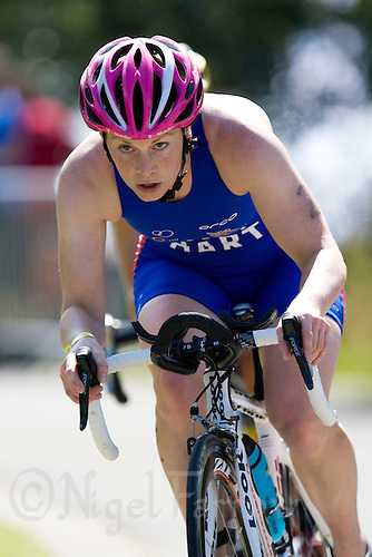 26 JUL 2008 - TREDEGAR, UK - Felicity Hart - British Elite Triathlon Championships. (PHOTO (C) NIGEL FARROW)