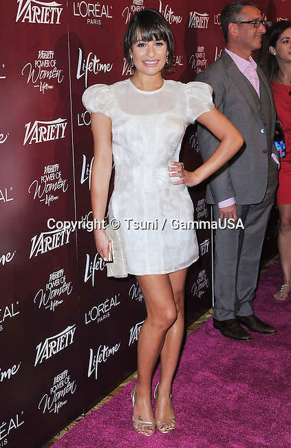 Lea Michele  at the Variety's 3rd Annual Power of Women Luncheon in Beverly Hills.