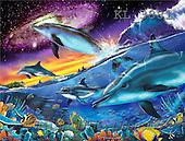 Interlitho, Lorenzo, REALISTIC ANIMALS, paintings, oceangalaxy 2(KL3881,#A#) realistische Tiere, realista, illustrations, pinturas ,puzzles