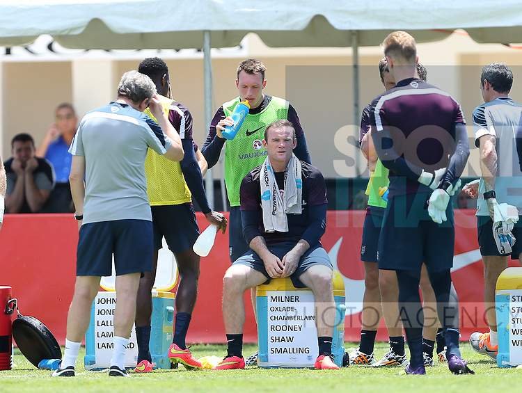 England's Wayne Rooney in action during training<br /> <br /> England Training &amp; Press Conference  - Barry University - Miami - USA - 06/06/2014  - Pic David Klein/Sportimage