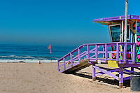 Hermosa Beach, CA, Lifeguard Station, Summer of Color, exhibit, Lifeguard, Towers, Portraits of Hope, Geometric, shapes,
