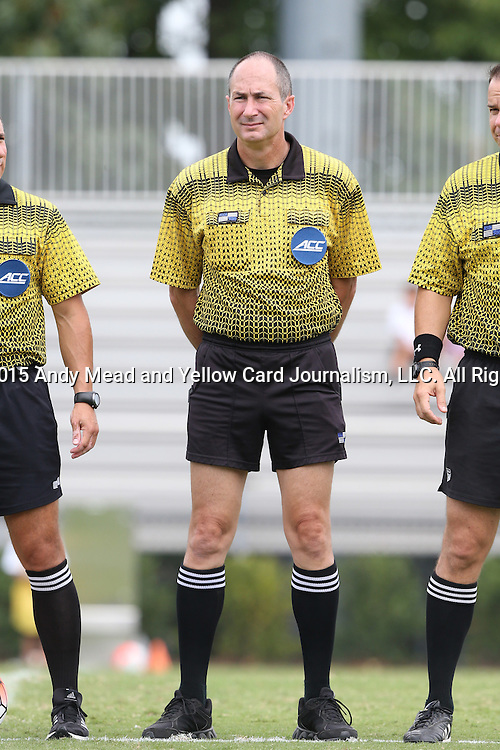 30 August 2015: Fourth Official Dan Dunbar. The Duke University Blue Devils hosted the DePaul University Blue Demons at Koskinen Stadium in Durham, NC in a 2015 NCAA Division I Men's Soccer match.
