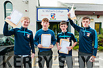 Students from St. Michael's College, Listowel who received their junior cert ona Wednesday morning. L- R : Eric Barry, Conor Costello, Evan Flavin & Adam Flavin.