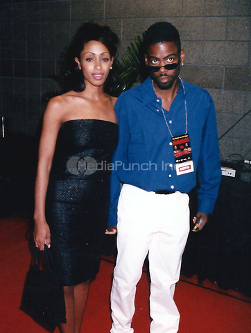 Chris Rock6039.JPG<br /> <br /> 1997 <br /> Chris Rock with ex-wife Malaak Compton Rock 1997<br /> Photo to By John Barrett-PHOTOlink.net/MediaPunch