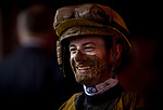 SARATOGA SPRINGS, NY- AUGUST 03: A muddy Julien Leparoux at Saratoga Racecourse on August 3, 2018 in Saratoga Springs, New York.(Photo by Alex Evers/Eclipse Sportswire)