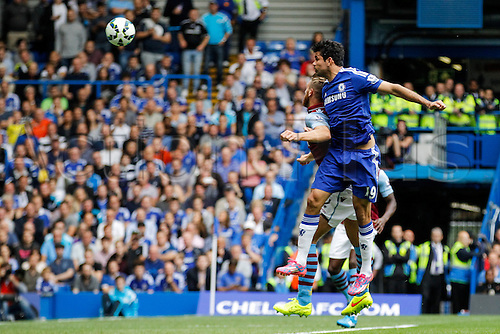 27.09.2014.  London, England. Barclays Premier League. Chelsea versus Aston Villa from Stamford Bridge. Diego Costa of Chelsea scores Chelsea's second goal of the game.