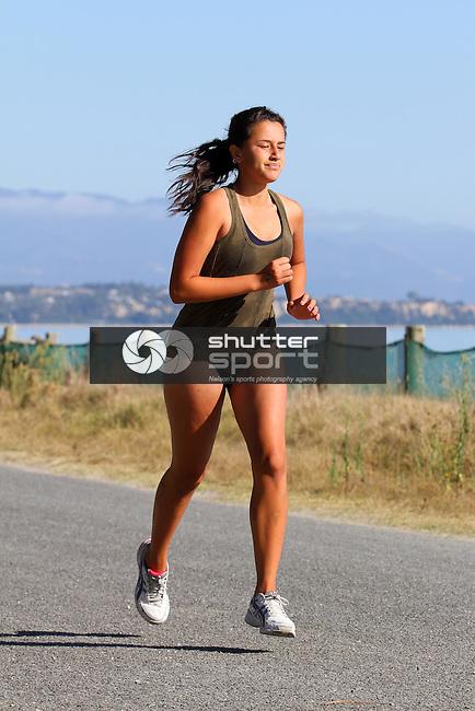 Summer Sprint Triathlon Series: Race 3, 24/02/13, Rabbit Island, Nelson, New Zealand<br /> Photo: Marc Palmano/shuttersport.co.nz