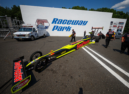 NHRA Mello Yello Drag Racing Series<br /> NHRA Summernationals<br /> Old Bridge Township Raceway Park, Englishtown, NJ USA<br /> Saturday 10 June 2017 Troy Coughlin Jr, SealMaster, top fuel dragster<br /> <br /> World Copyright: Mark Rebilas<br /> Rebilas Photo